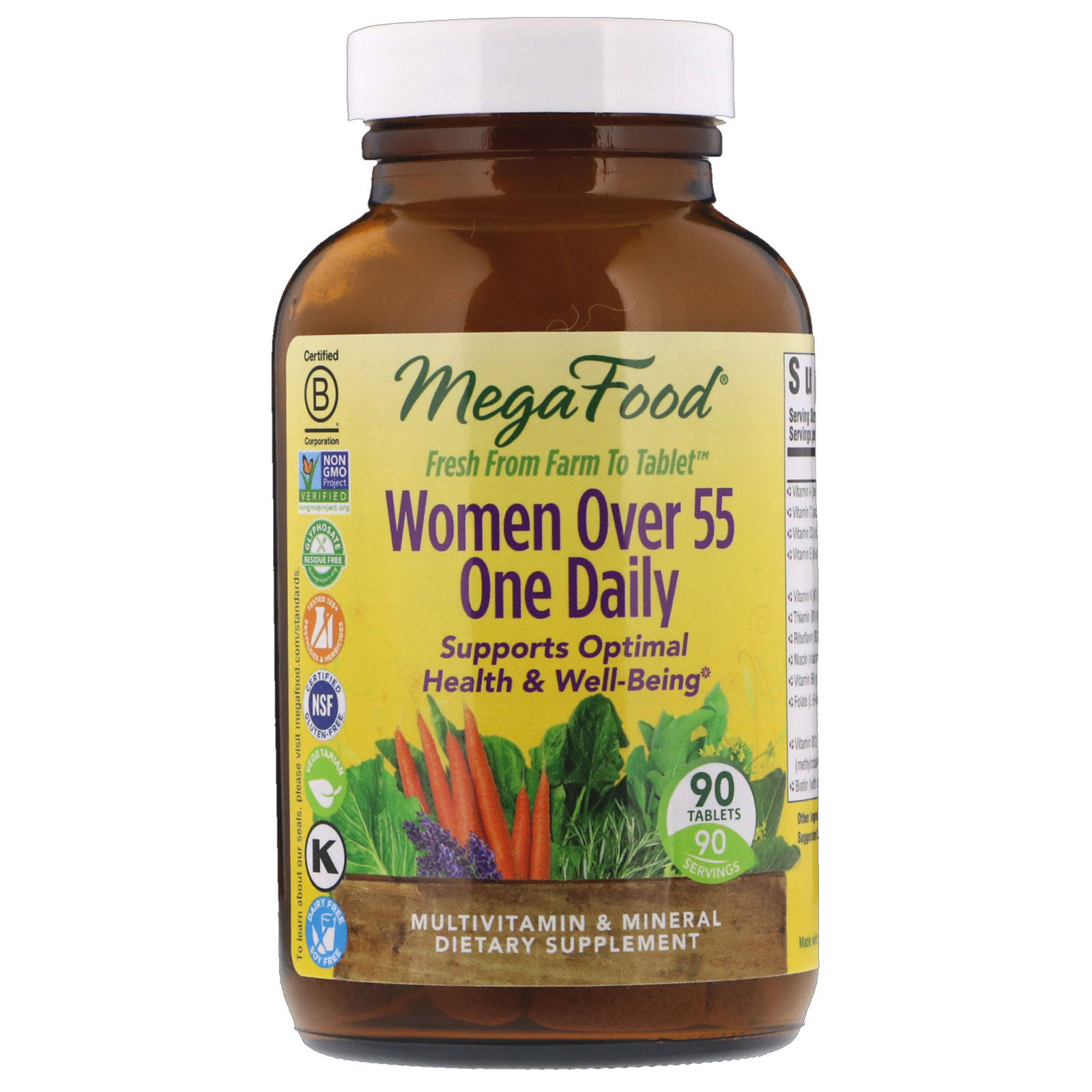 MegaFood - Women Over 55 One Daily - 90 Tablets