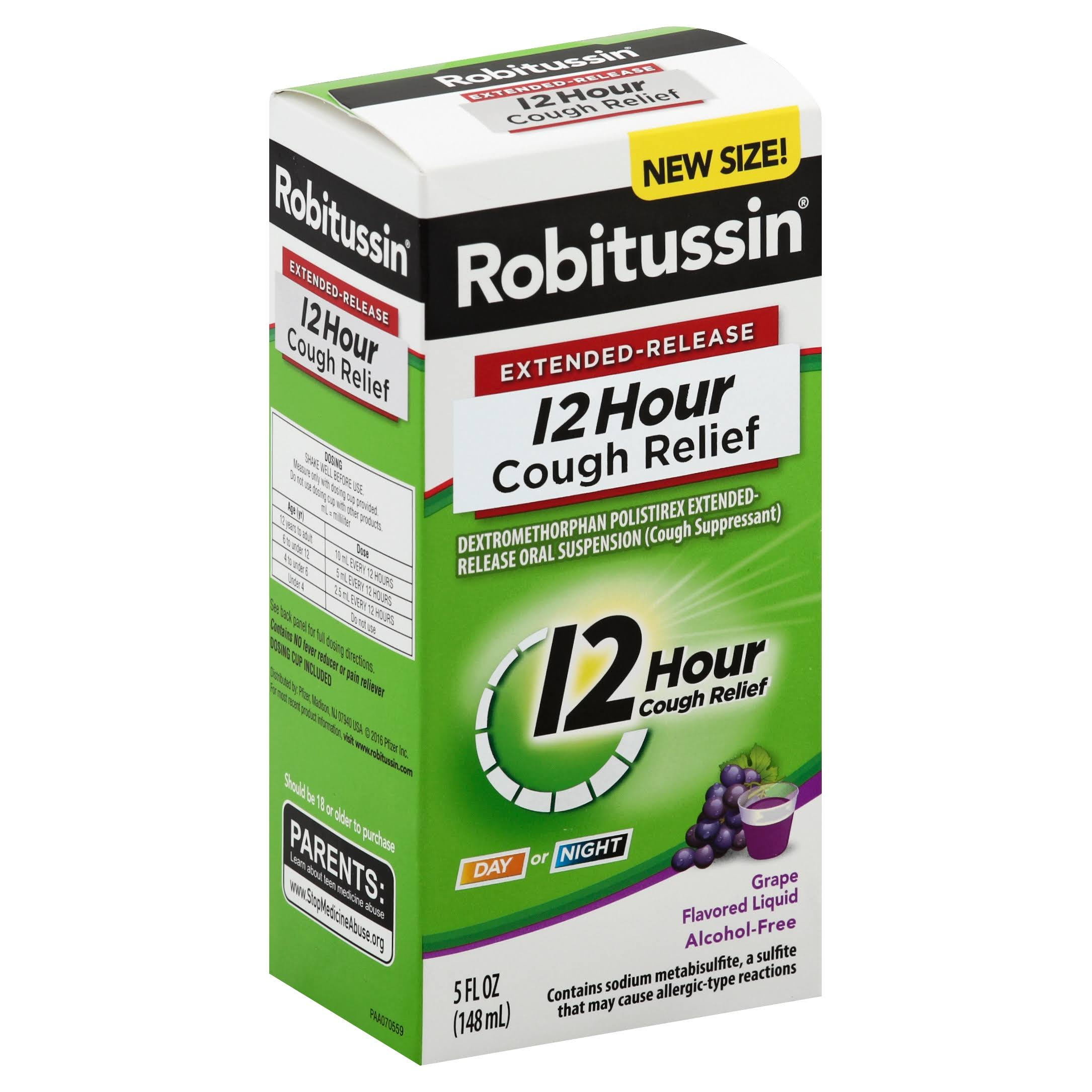 Robitussin 12 Hour Cough Relief - Grape, 148ml