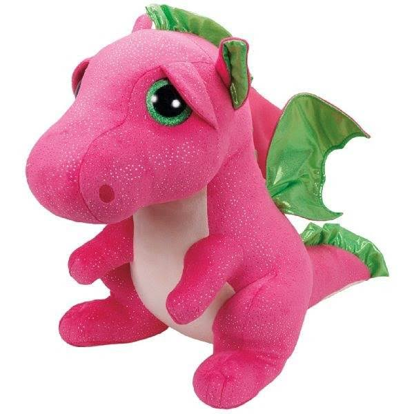 Ty Beanie Boos Darla The Pink Dragon Stuffed Animal - Large