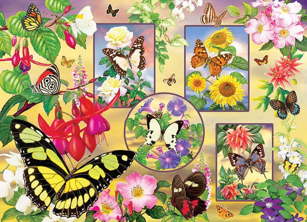Cobble Hill Jigsaw Puzzle - Butterfly Magic, 500 Pieces