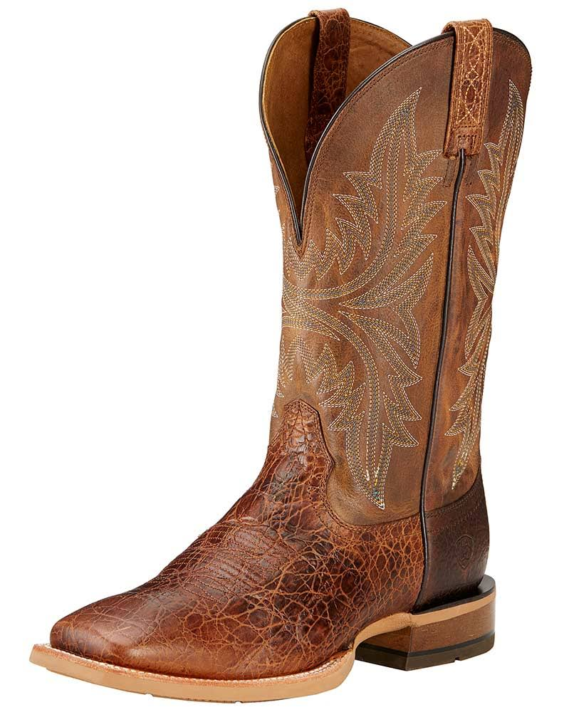 Ariat Men's Cowhand Western Cowboy Boot - Adobe Clay/Taupe, USM10