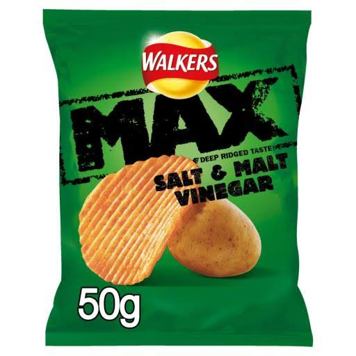 Walkers Max Salt & Vinegar Crisps - 50g