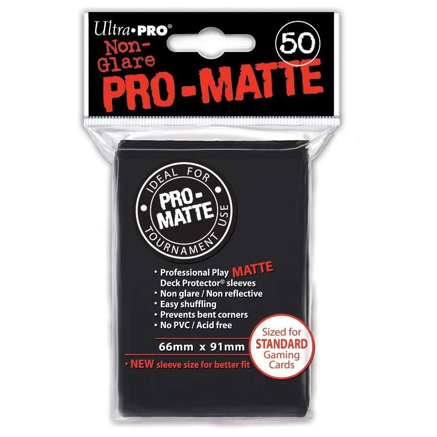Ultra Pro-Matte Deck Protector - Black, x50