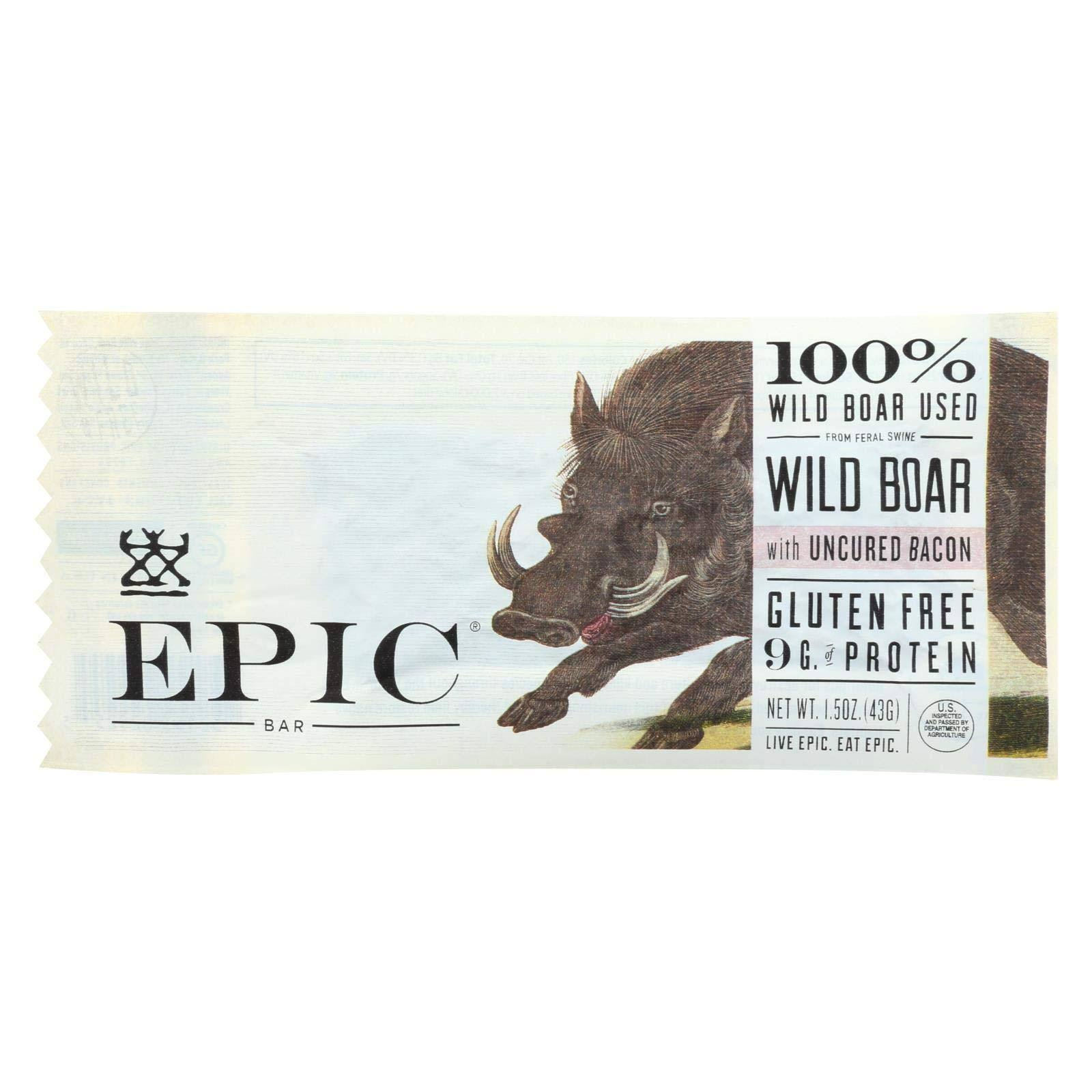 Epic Wild Boar, with Uncured Bacon - 1.5 oz