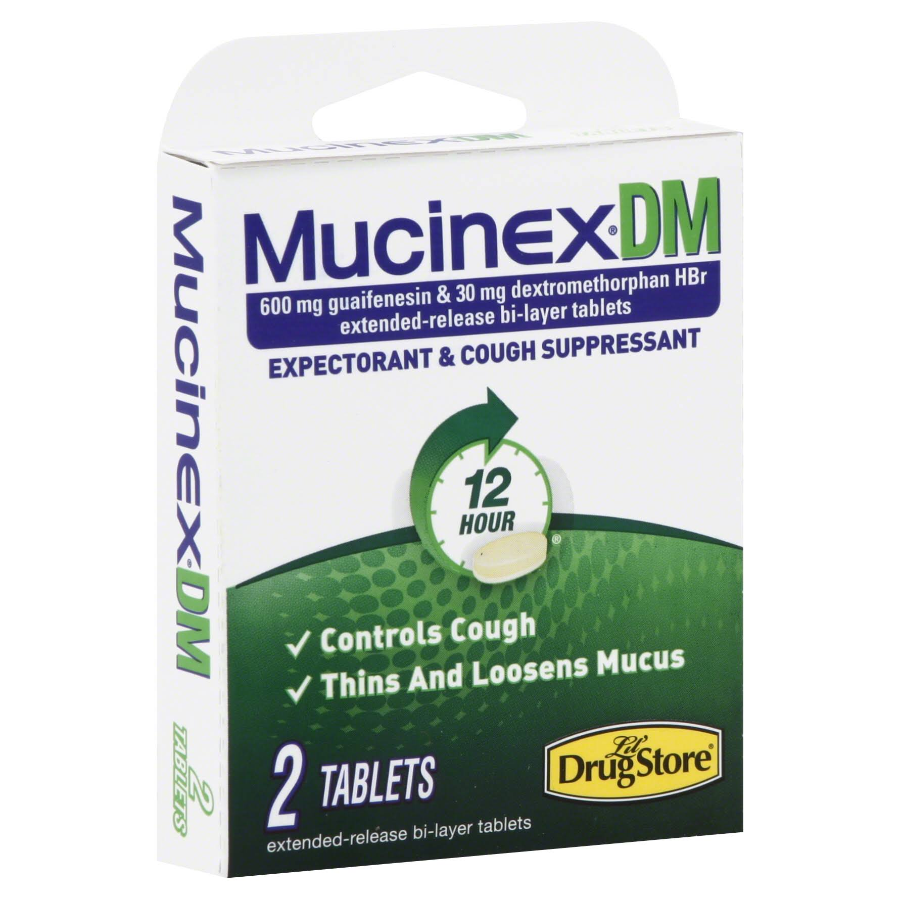 Mucinexdm Expectorant & Cough Suppressant - 2 Tablets