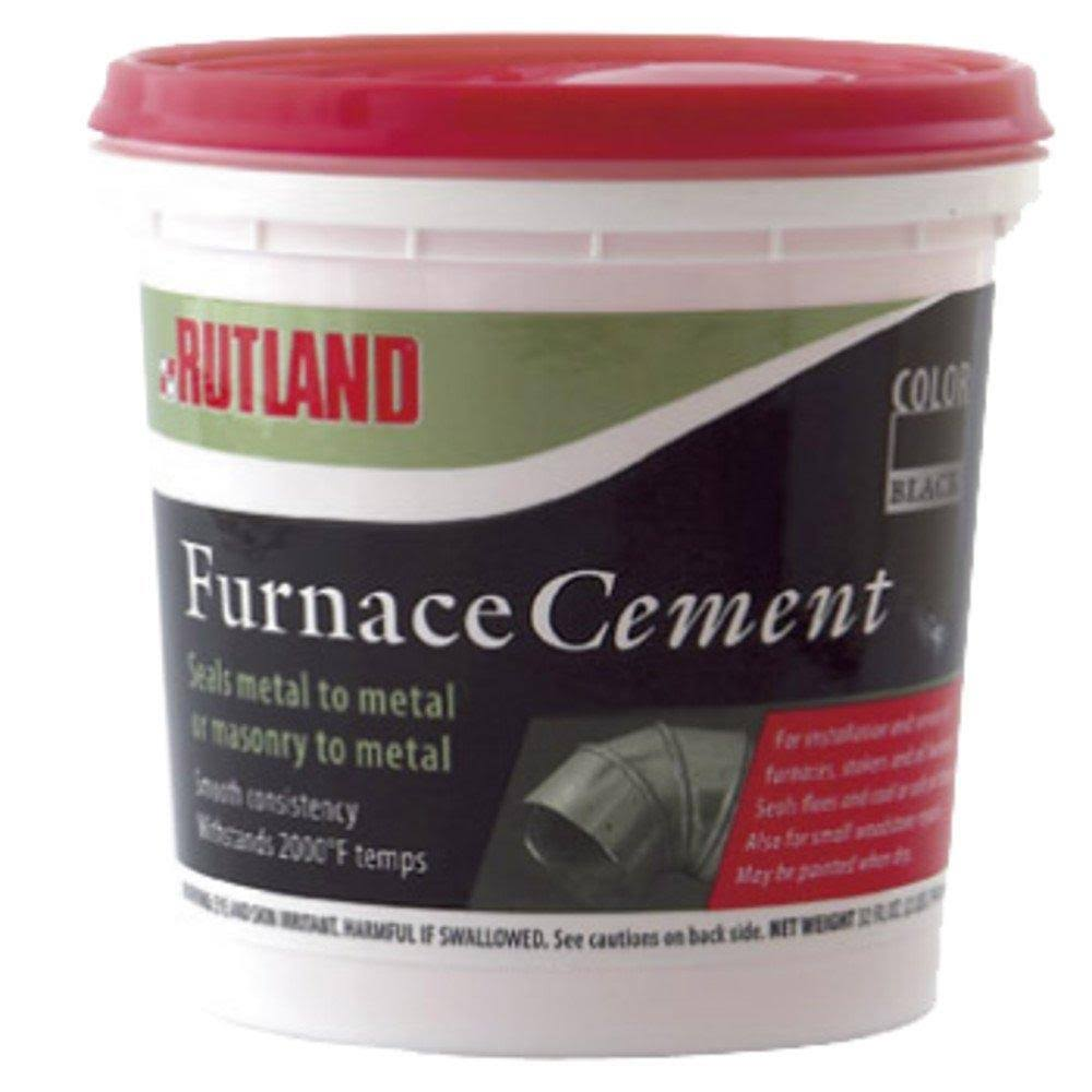 Rutland 64 Furnace Cement - Black, 16oz