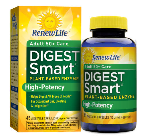 Renew Life Digest Smart Enzyme Supplement - 45 Capsules