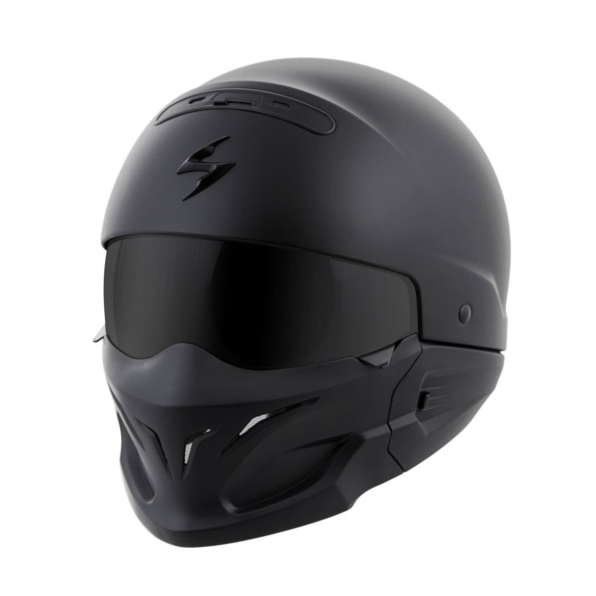 Scorpion COV0105 Covert Motorcycle Helmet - Matte Black, Large