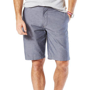 Dockers Mens Perfect Chambray Shorts, Size: 34, Blue