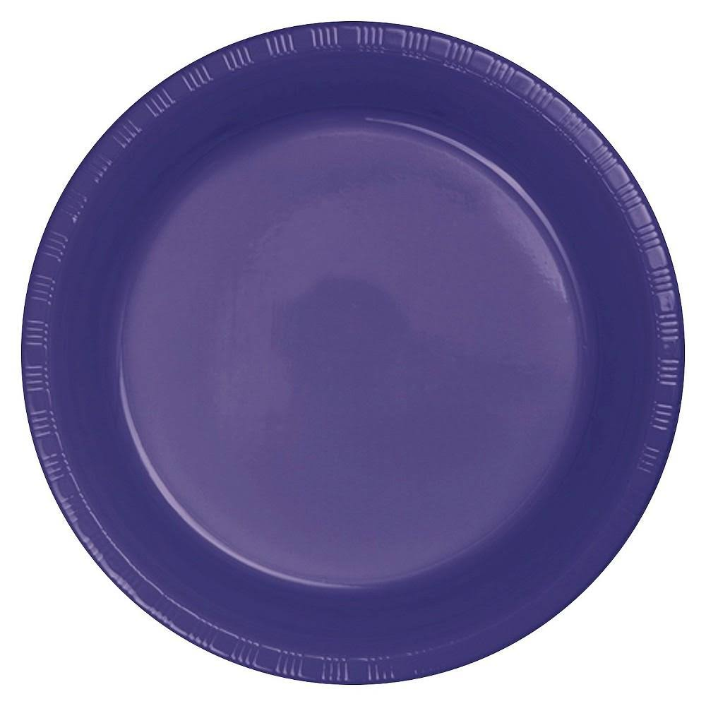 Creative Converting Touch of Color Plastic Lunch Plates - Purple, 20pcs, 7""