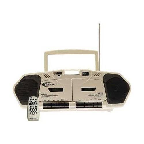 SG Education Califone Califone Duel Cassette and CD Player with Built in Mic