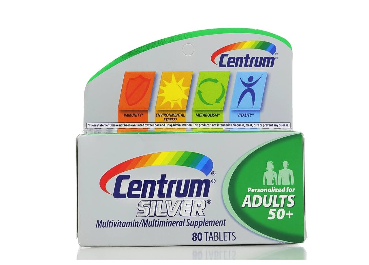 Centrum Silver Adult Multivitamin Multimineral Supplement - 80ct