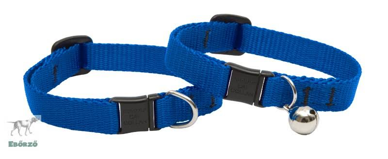 Lupine Cat Safety Collar with Adjustable Neck - Blue, 1/2in x 8-12in