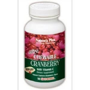 Nature's Plus Ultra Chewable Cranberry with Vitamin C - 90 Capsules