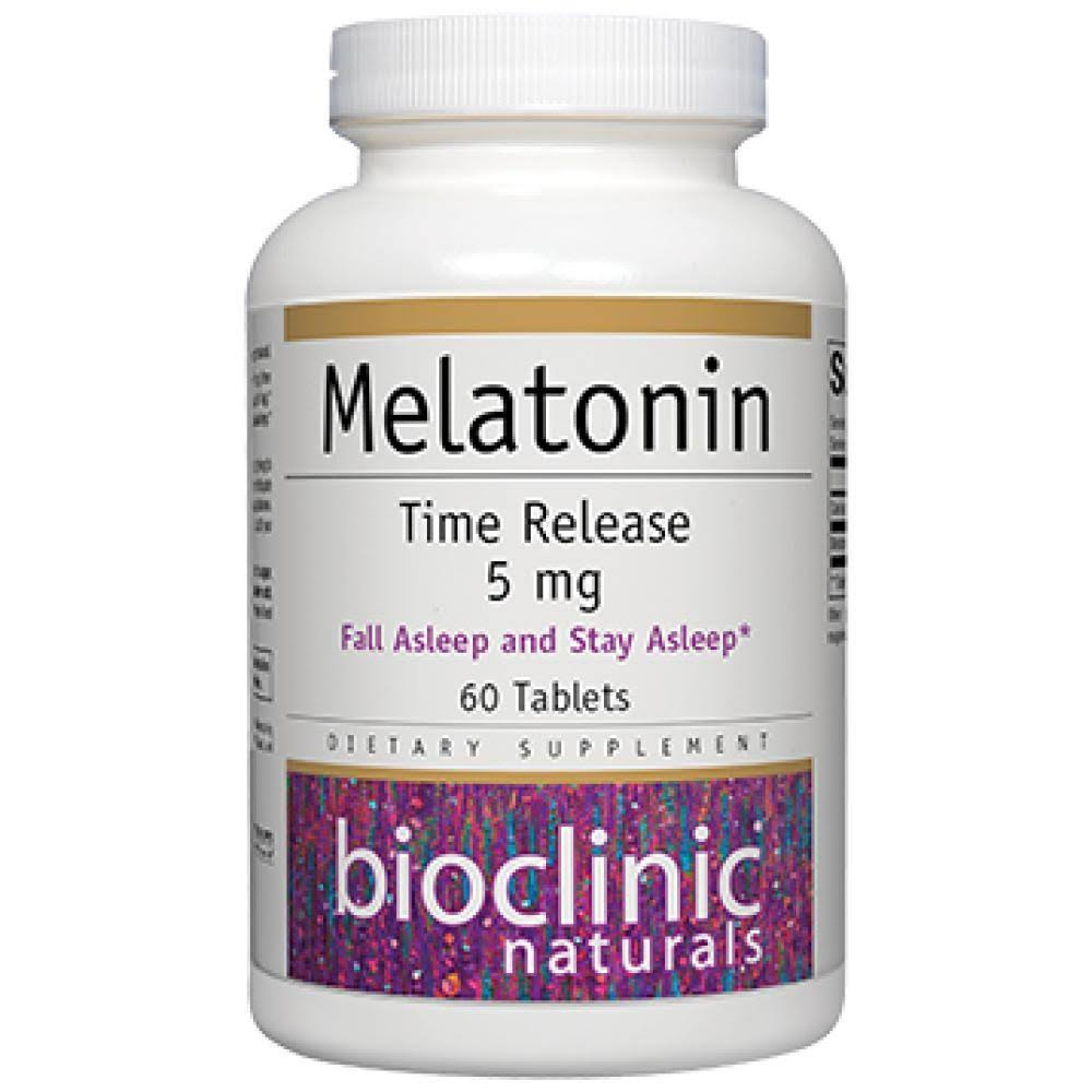 Bioclinic Naturals Melatonin Time Release 5 mg 60 Tabs 9290