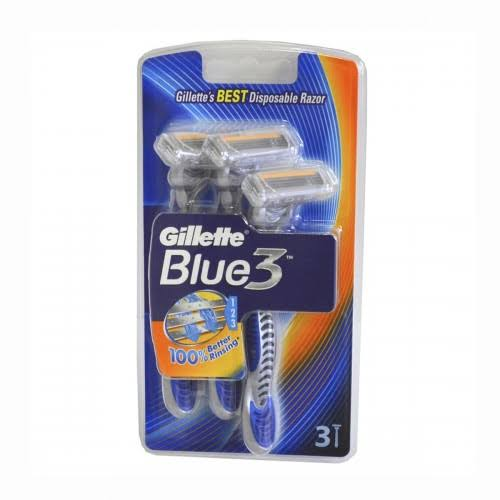 Gillette Blue 3 Disposable Razors with Aloe Lubricating Strip