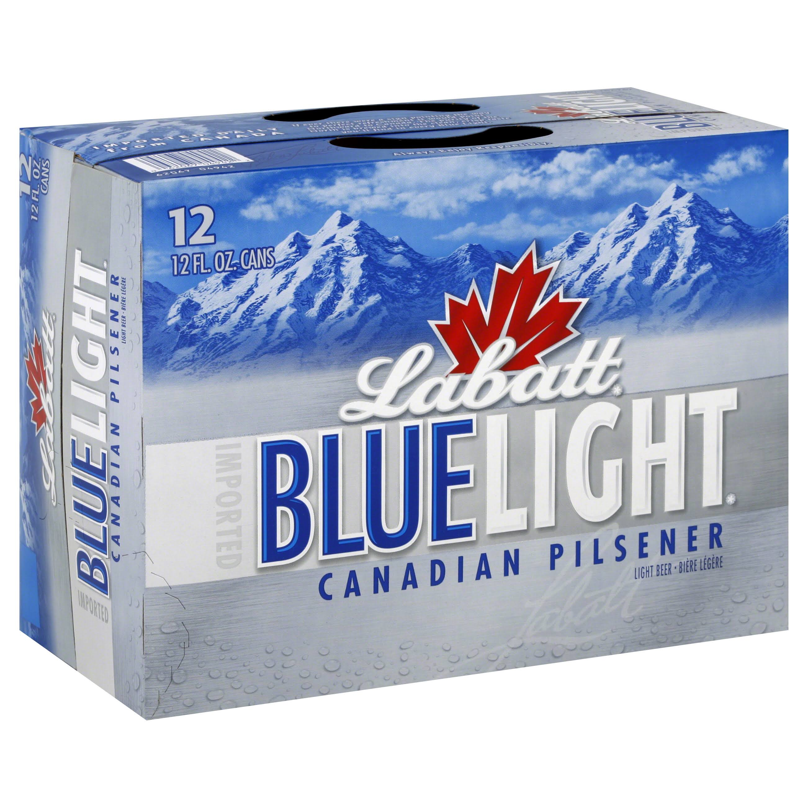 Labatt Blue Light Beer - 12oz, 12 Pack