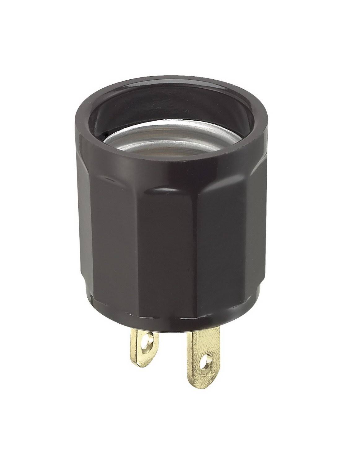 Leviton Adapter Outlet To Socket - Brown