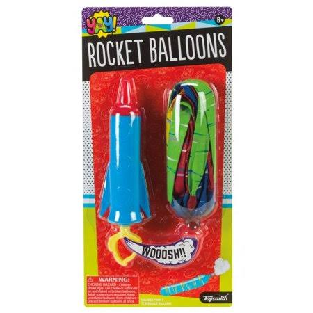 Rocket Balloons (Colors Vary) - Outdoor Fun Toy by Toysmith (90920)