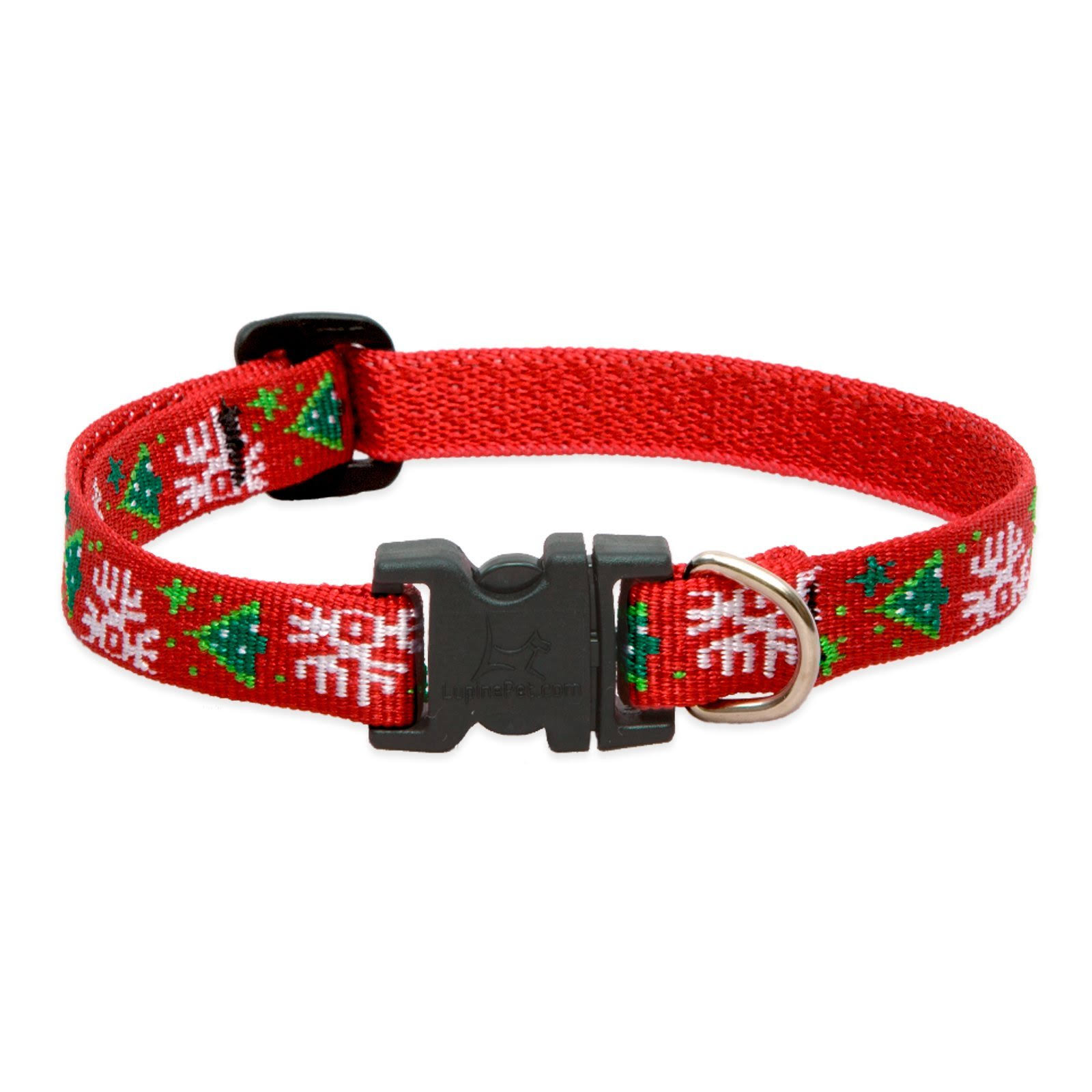 LupinePet Originals 1/2 inch Christmas Cheer Adjustable Collar for Small Dogs