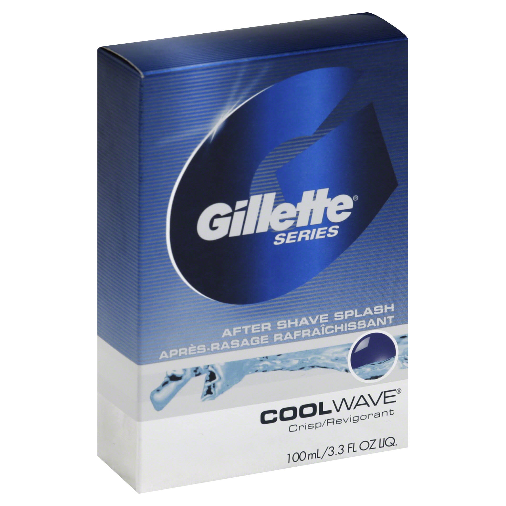 Gillette Series Cool Wave Crisp After Shave Splash - 3.3oz