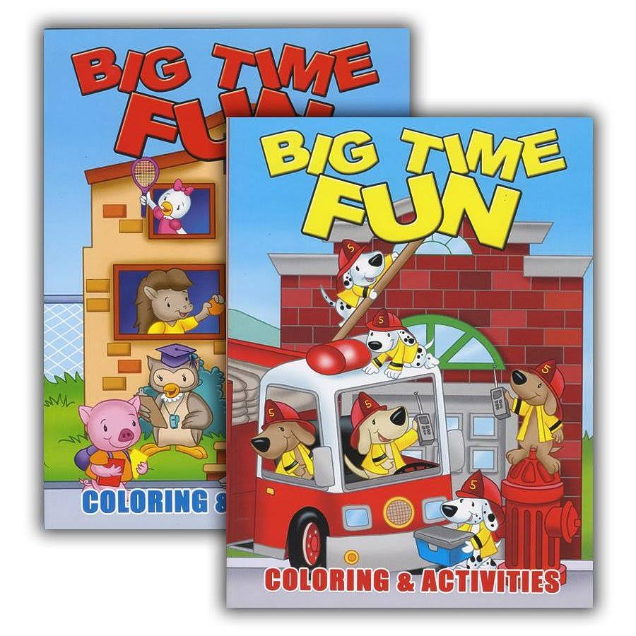 Big Time Fun Coloring & Activity Book Case Pack 48