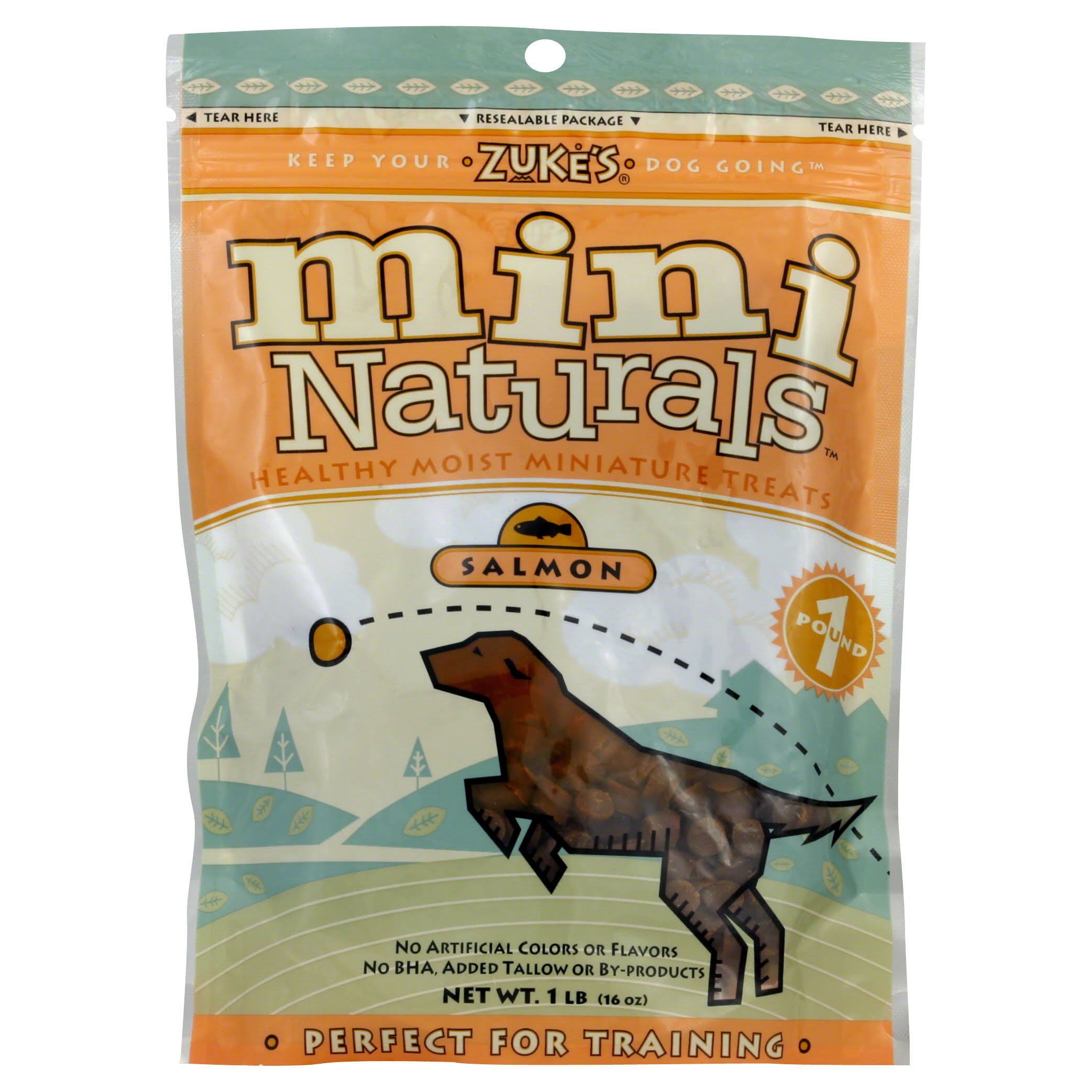 Zukes Mini Naturals Healthy Miniature Dog Treats - Salmon, 16oz