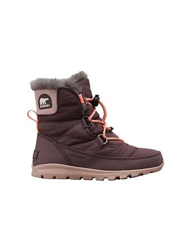 Sorel Youth Whitney Short Lace Boot - 5 - Purple Sage / Mauve Vapor