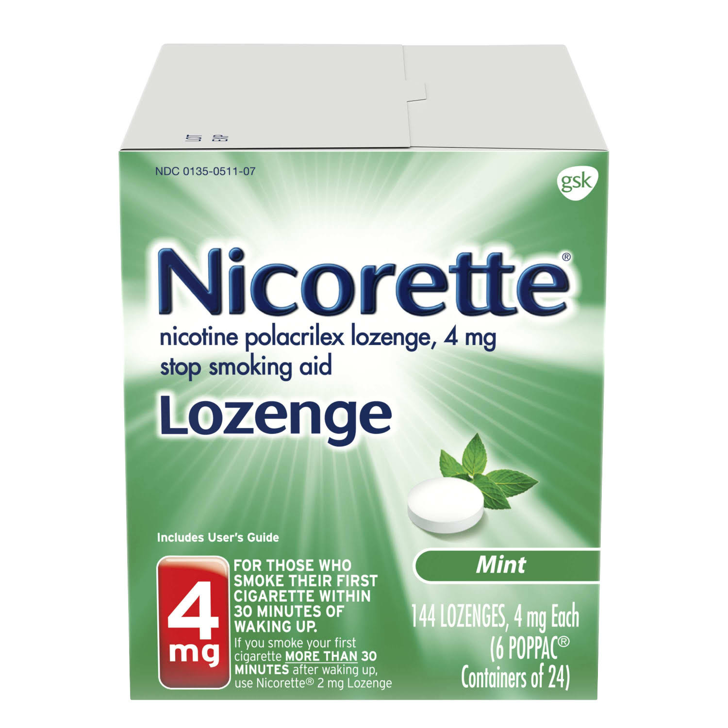 Gsk Nicorette Mint Lozenges - 4mg, 144pk