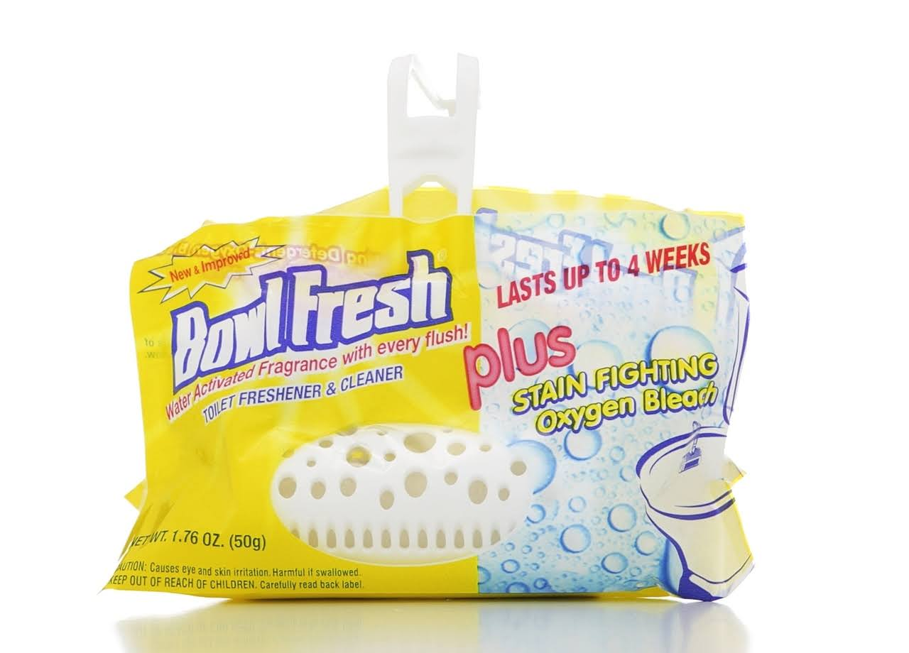 Bowl Fresh Plus with Stain Fighting Oxygen Bleach Toilet Freshener and Cleaner - 1.76oz
