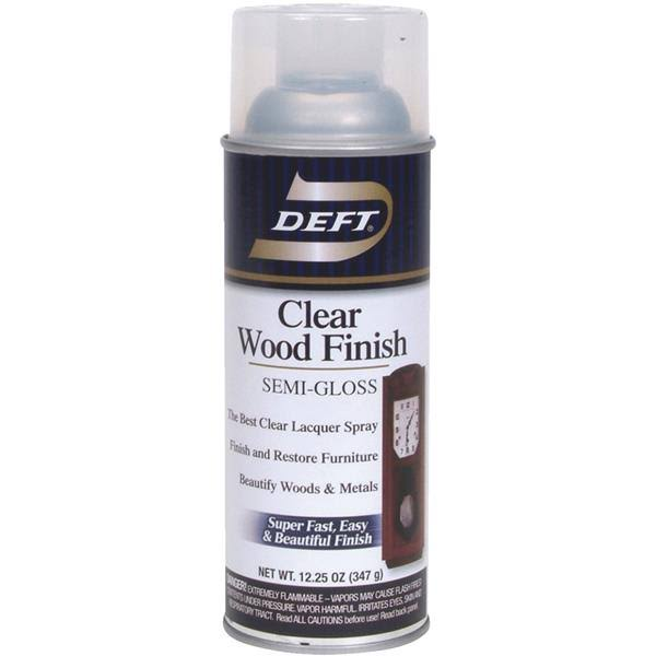 Deft Interior Clear Wood Finish Semi-Gloss Spray - 12.25oz