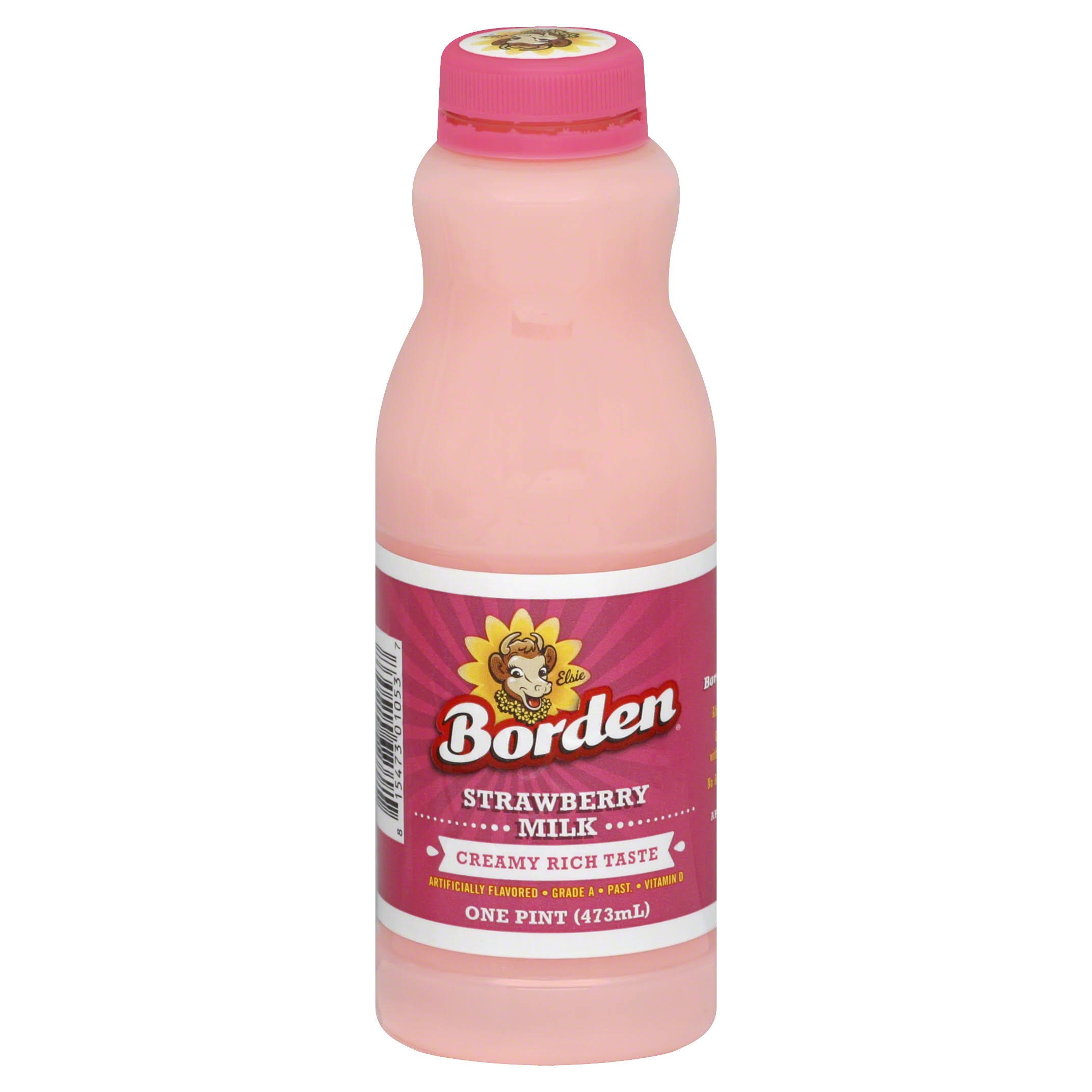 Borden Milk - Strawberry, 1 Pint