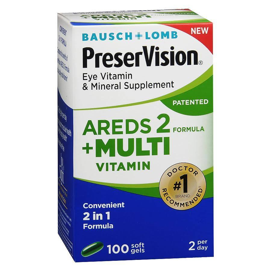 Bausch & Lomb PreserVision Eye Vitamin & Mineral Supplement Softgels - x100