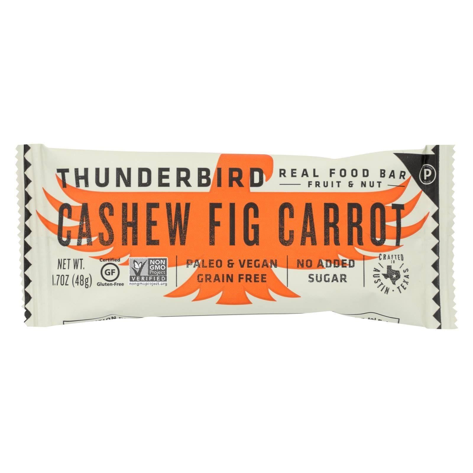 Thunderbird ENERGETICA: Bar Cashew Fig Carrot, 1.7 oz