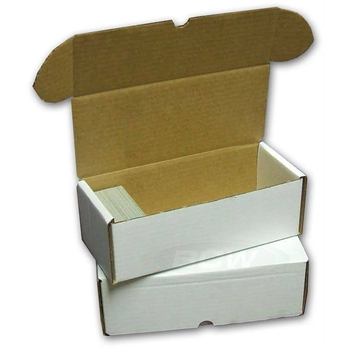 BCW Storage Box 500 Count Quantity of 50 Corrugated Cardboard
