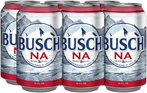 Busch Non-Alcoholic Beer - 6 pack, 12oz