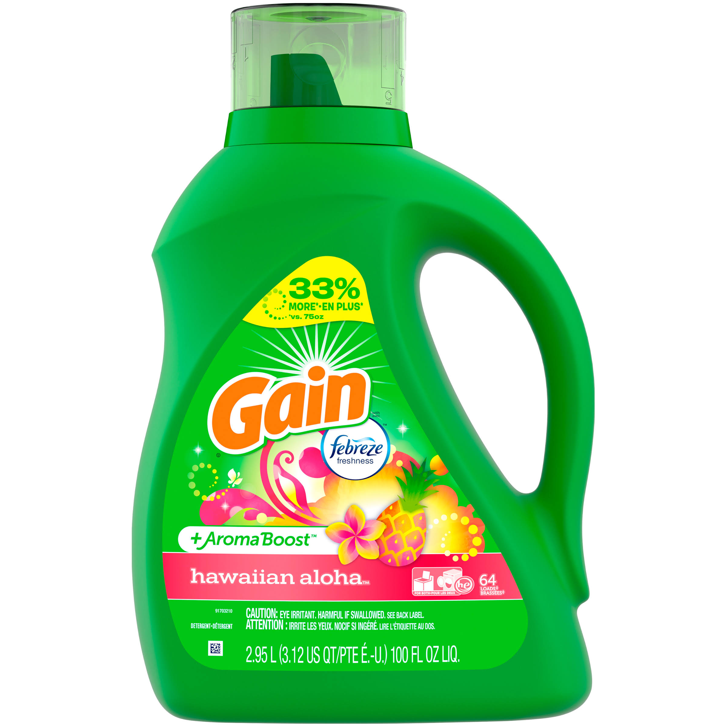 Gain Liquid Detergent - Hawaiian Aloha, 100oz