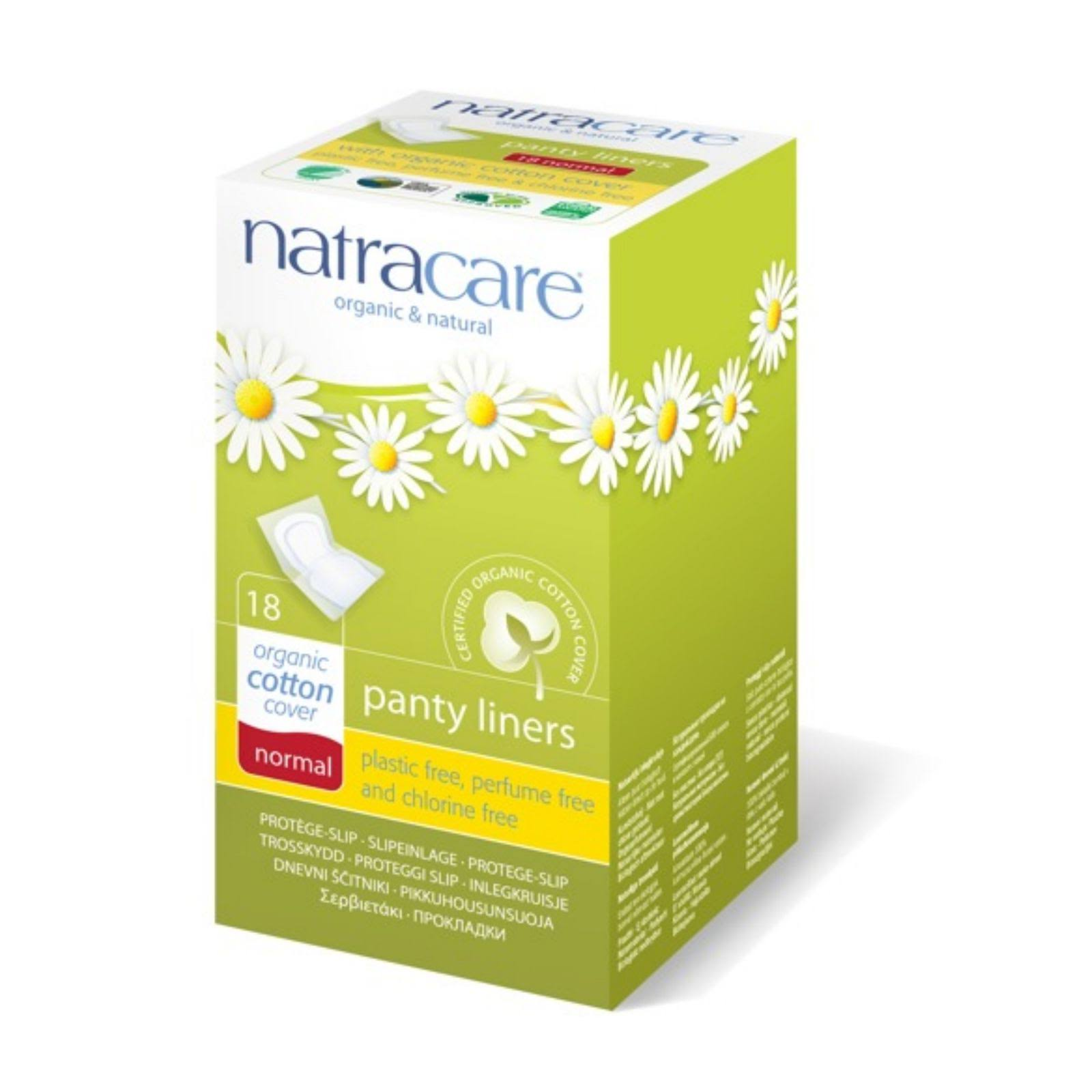 Natracare Organic Cotton Cover Panty Liners - Normal, 18ct