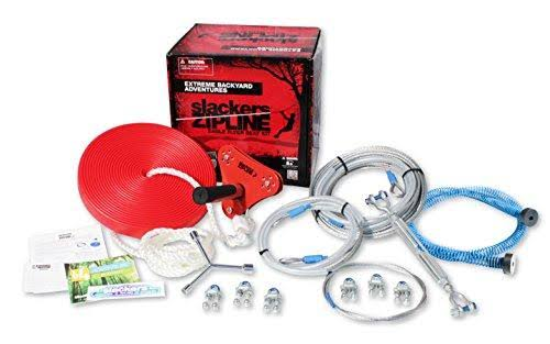 Slackers 90 ft Eagle Zipline Kit with Spring Brake