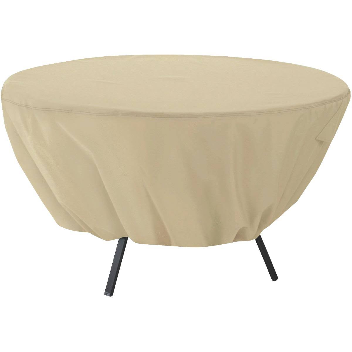 "Classic Accessories Patio Table Cover Round - Tan, 50"" Diameter"