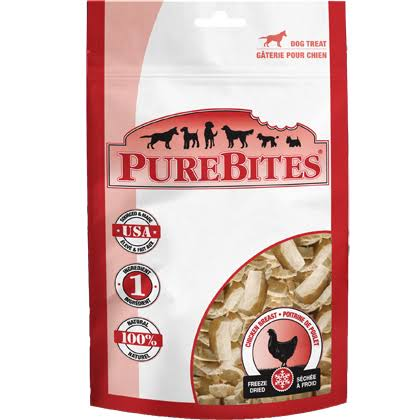 PureBites Freezed Dried Dog Treats - Chicken Breast, 3oz