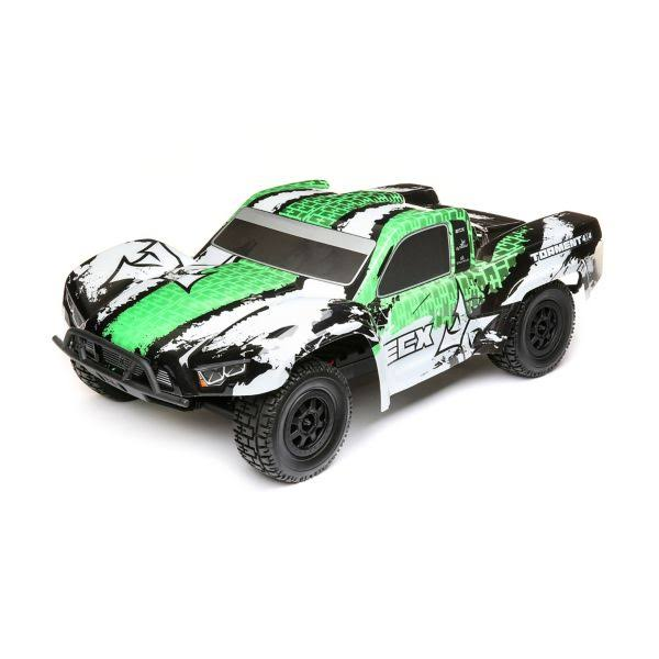 ECX - 1/10 4WD Torment Brushed White/Green RTR - 03243t2
