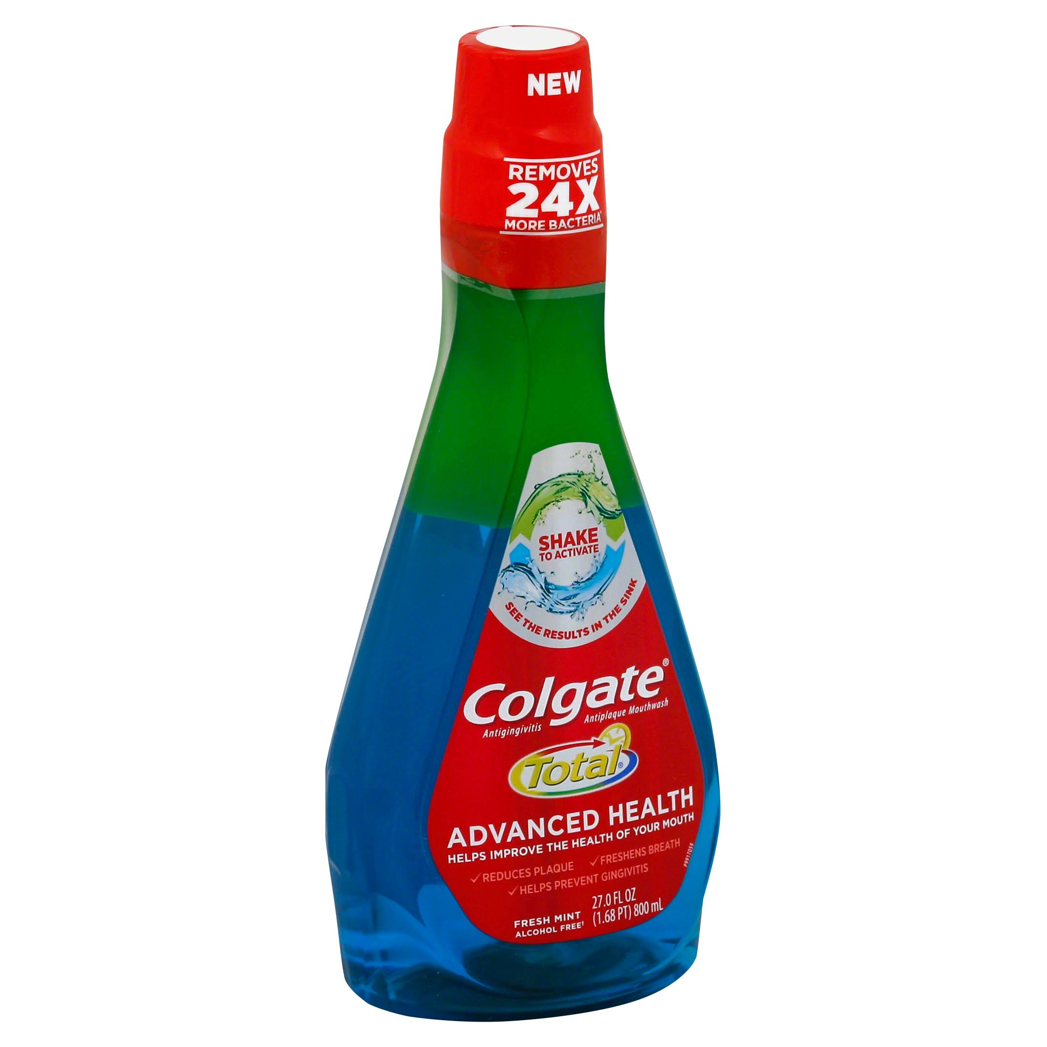 Colgate Total Advanced Health Fresh Mint Mouthwash - 800ml