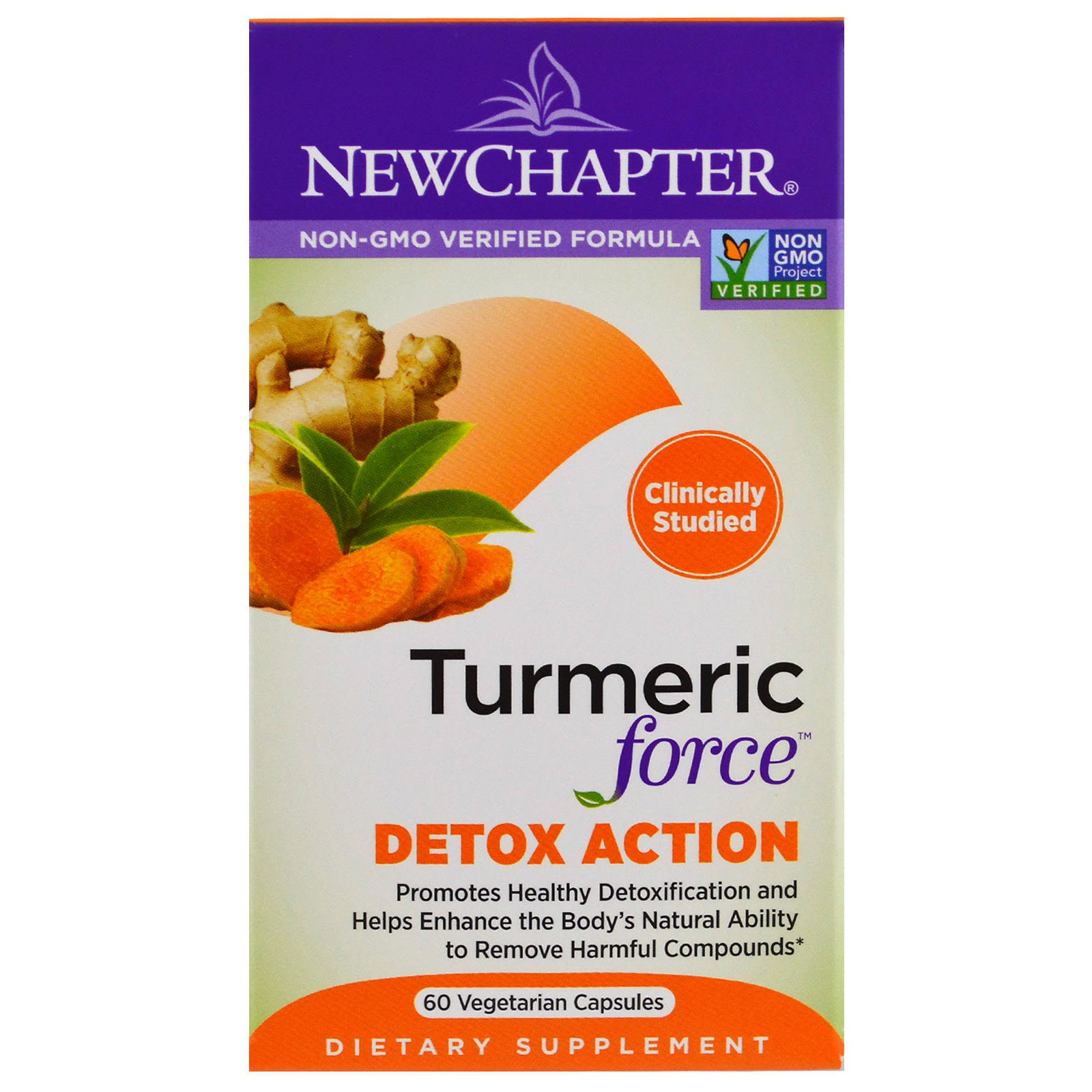 New Chapter Veggies Turmeric Force Detox Action - 60 Capsules
