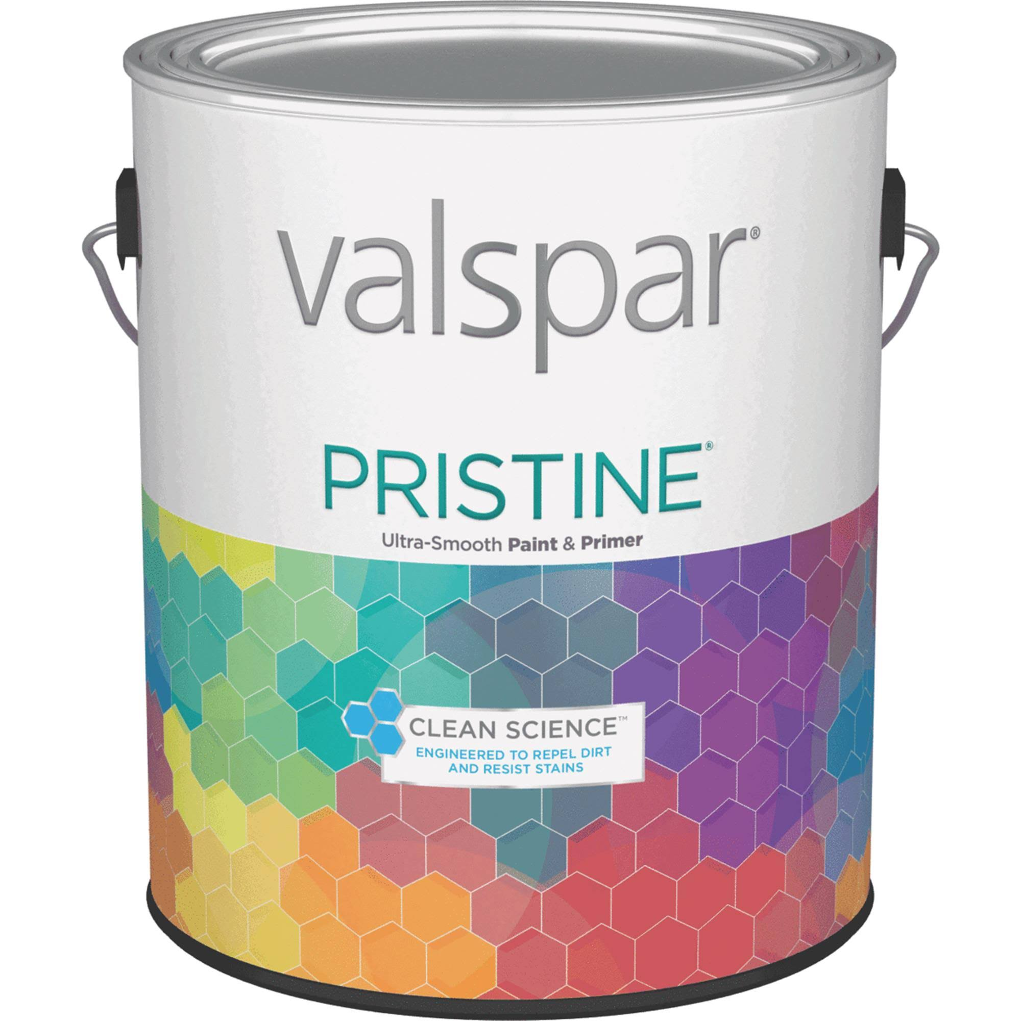 Valspar Pristine 100 Acrylic Paint and Primer Satin Interior Wall Paint - Pastel Base