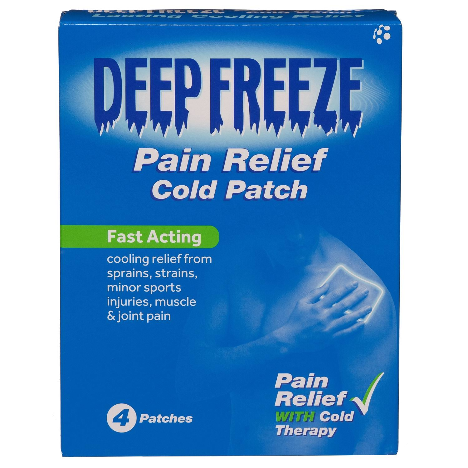 Deep Freeze Pain Relief Cold Patch - 4 Patches