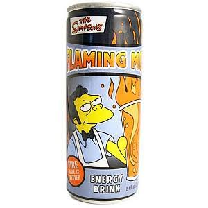 The Simpsons Flaming Moe 12oz Energy Drink