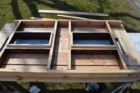 Build Your Own Outdoor Patio Table by Make Your Own Patio Table With Built In Ice Boxes Homes And Hues