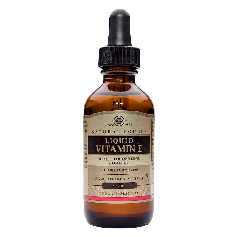 Solgar Natural Liquid Vitamin E Mixed Tocopherol Complex