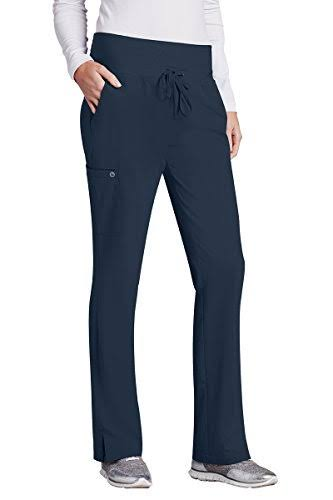 Barco One Women's 5-Pocket Knit Waistband Flare Scrub Pant - 5206